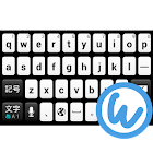 Black&White keyboard image icon