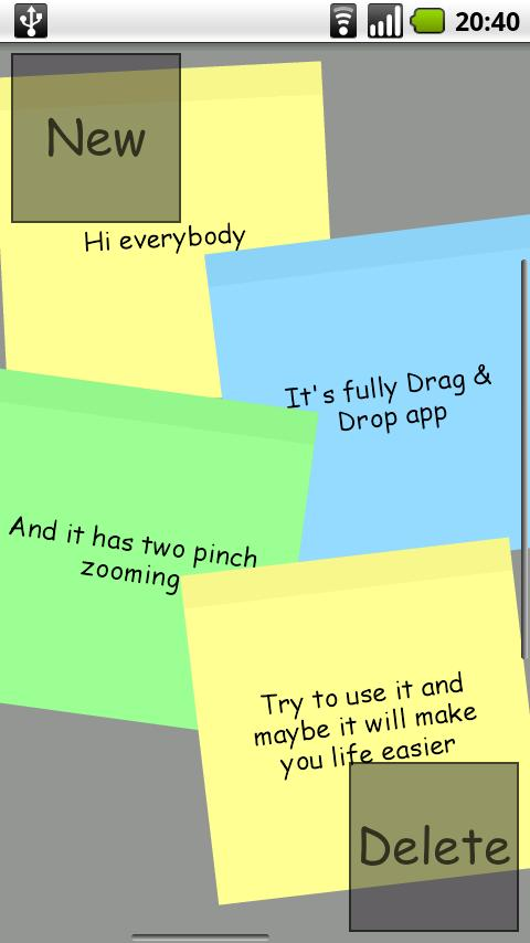 Post me Notes- screenshot