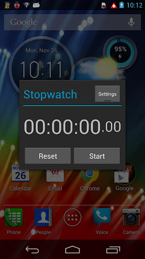 Stopwatch with minute marker