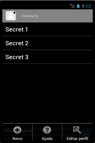 Secret Contacts - screenshot
