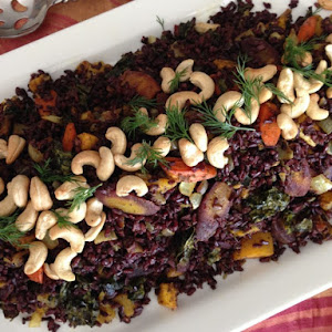 Black Rice with Curry Seasonal Vegetables