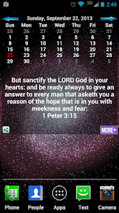 Bible Verses Calendar - screenshot thumbnail