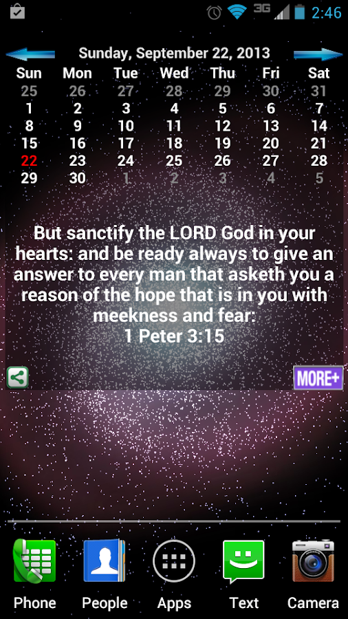 Bible Verses Calendar - screenshot
