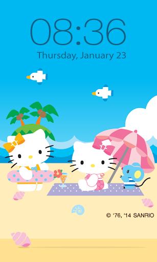 Hello Kitty Beach Screen Lock