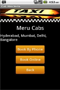 Taxi Cab Hire India - screenshot thumbnail