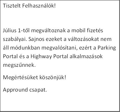 Parking Portal megszűnt