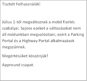 Parking Portal megszűnt!!!- screenshot thumbnail