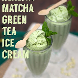 GREEN TEA ICE CREAM.