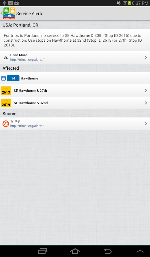 TransitTimes+ Trip Planner - screenshot