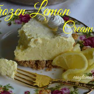 Frozen Lemon Cream Pie.