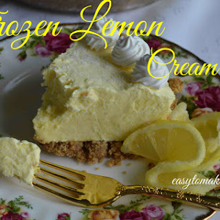 Frozen Lemon Cream Pie.