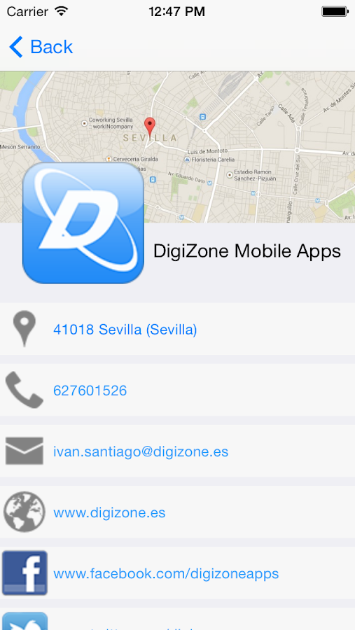 DigiZone Mobile Apps- screenshot