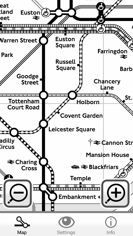 Colourblind Tube Map- screenshot