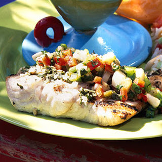 Montego Bay Grilled Fish with Caribbean Salsa.