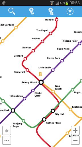 新加坡地铁地图