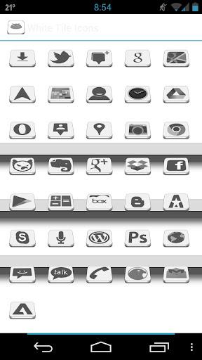 White Tiles Icons