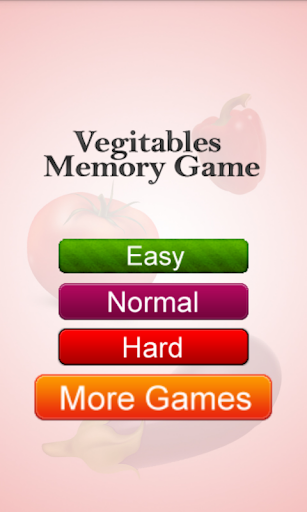 Vegetables Memory Game Free
