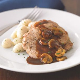 Pork Scallopini with Mushrooms and Marsala Sauce.