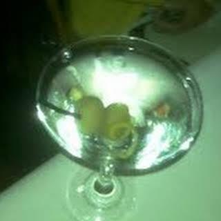 Citrus And Olive Martini.