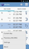 Screenshot of Planetary Hours Pro