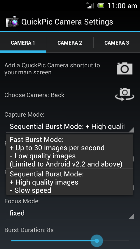 QuickPic Camera - screenshot