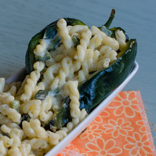 Roasted Poblano and Goat Cheese Mac