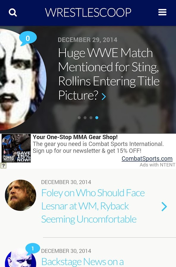 WrestleScoop - screenshot