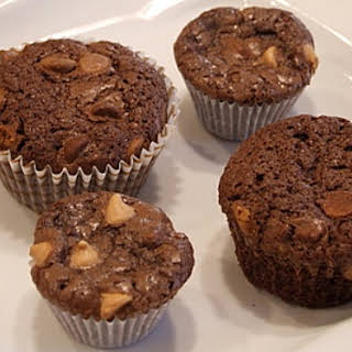 Peanut Butter Chip Brownie Cupcakes.