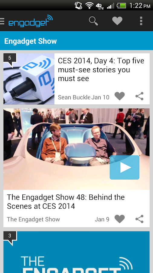 Engadget - screenshot