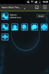 GO Launcher Themes Neon Blue - screenshot thumbnail