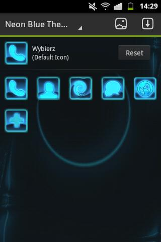 GO Launcher Themes Neon Blue - screenshot