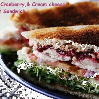 Micki's Turkey, Cranberry, & Cream Cheese Comfort Sandwich.