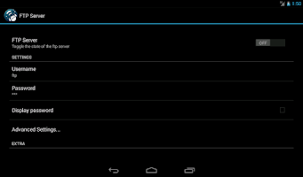 Screenshot of FTP Server