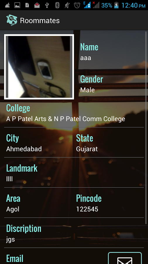 College PG Finder- screenshot