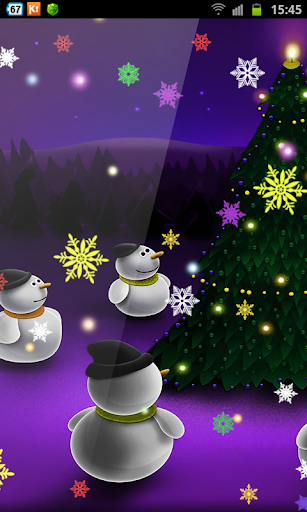 Christmas Snowman lwp Snow HD