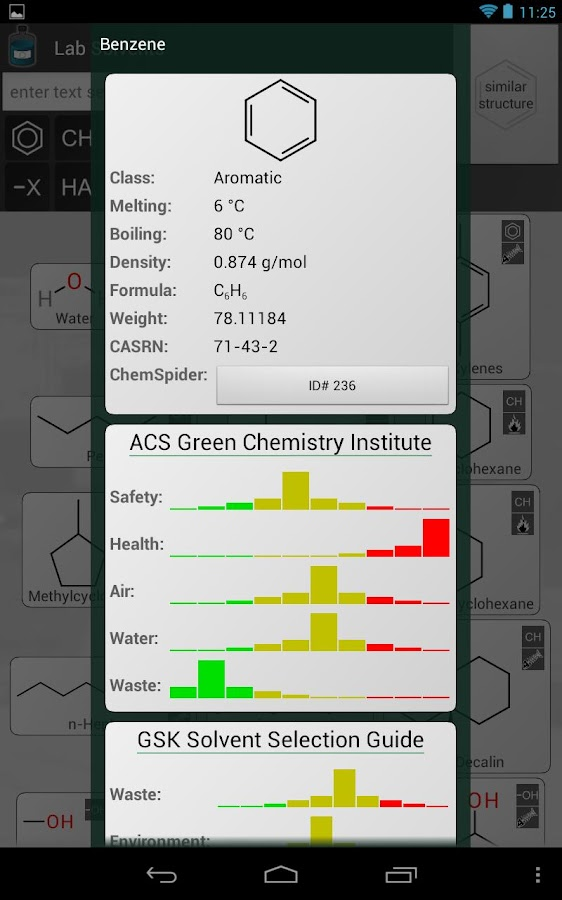 Lab Solvents - screenshot