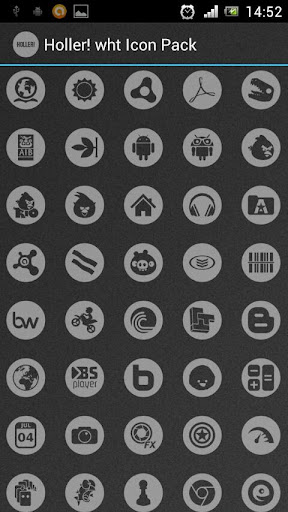 Holler wht Icon Pack