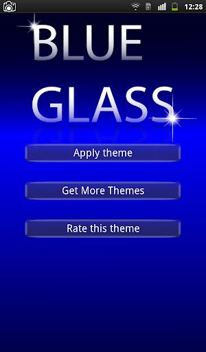 Blue Glass Keyboard