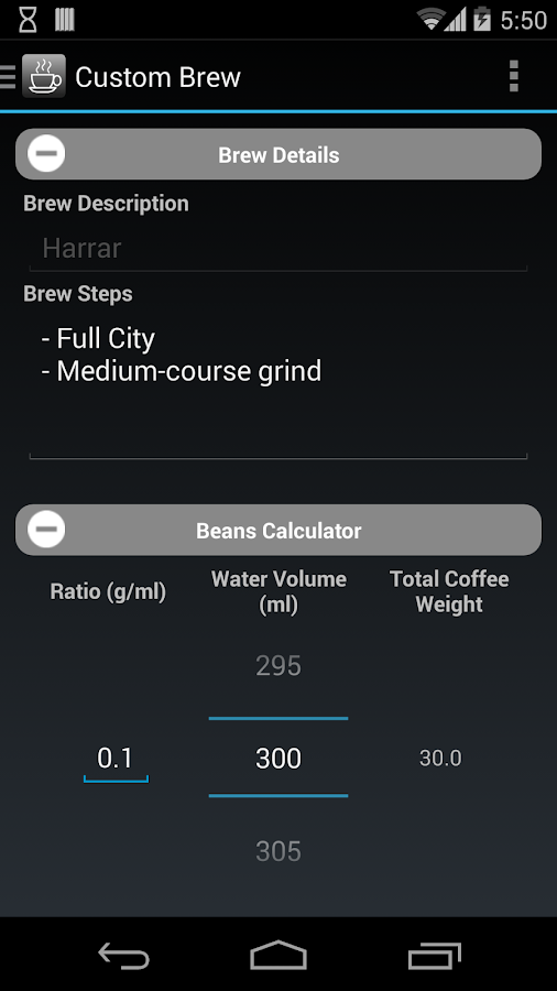 Coffee Nerd - Brewing Guide- screenshot