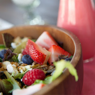 Very Berry Salad with Honey Sweetened Raspberry Vinaigrette