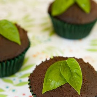 Vegan Chocolate Cupcakes with Basil Recipe