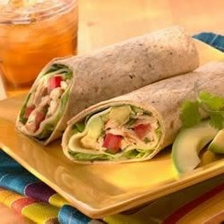 Chicken, Avocado and Provolone Wraps.
