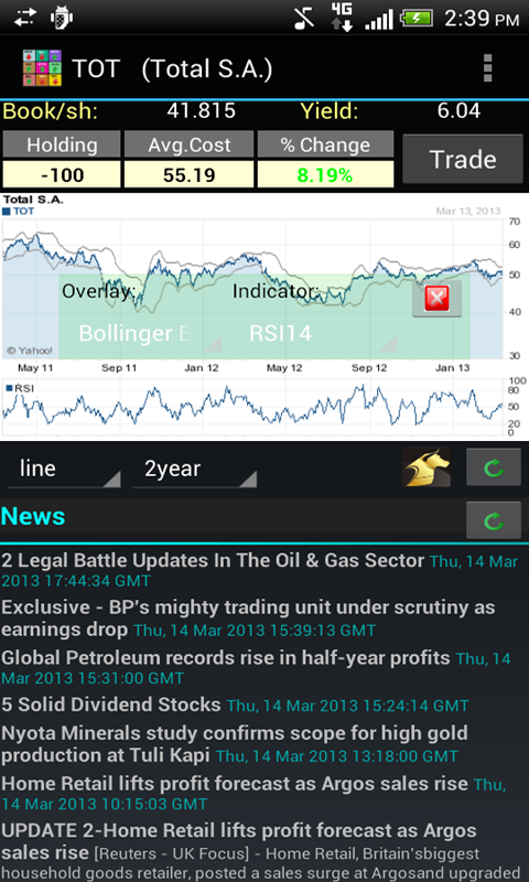 Realtime Stock Quotes & Tiles- screenshot