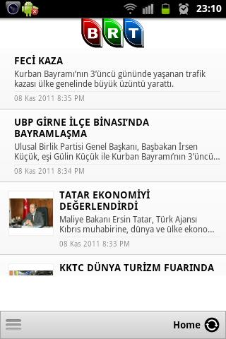 KKTC BRT HABER - screenshot