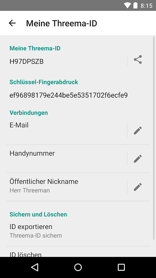 Threema - screenshot