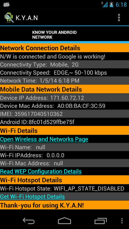 Know-Your-Android-Network 11