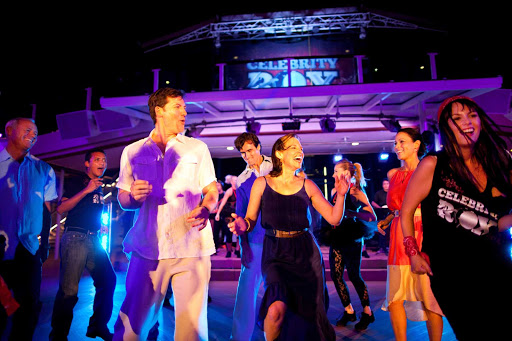 The more outgoing guests aboard Celebrity Silhouette can have their moment of fame on stage with the entertainers.