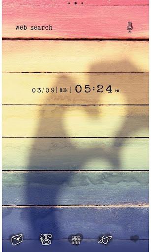 かわいい壁紙・アイコン-HEART RAINBOW-無料