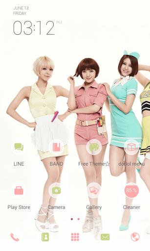 AOA Short Hair dodol theme