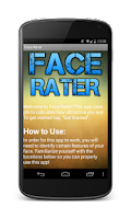 Screenshot of Face Rater